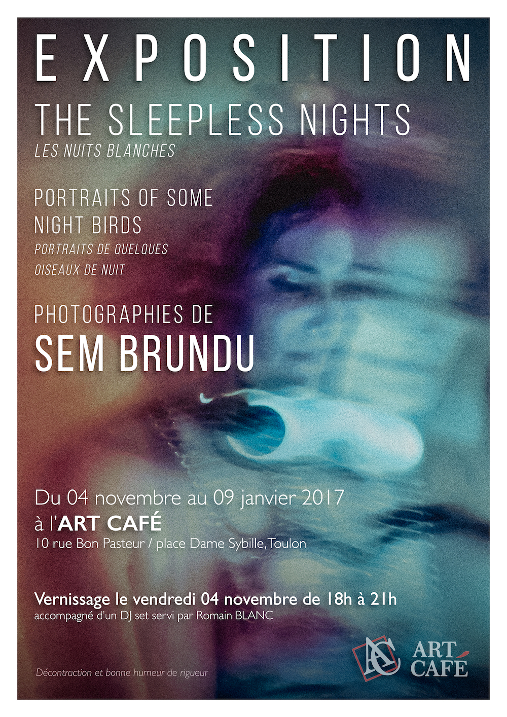L'exposition The Sleepless Nights du photographe Sem Brundu à voir jusqu'au 9 janvier 2017 à l'Art Café, Toulon